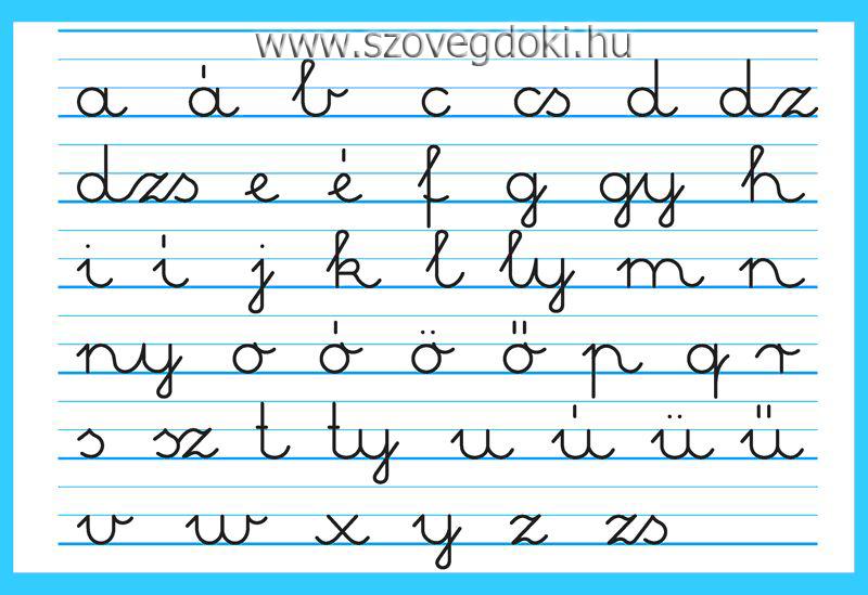 írott kisbetűk